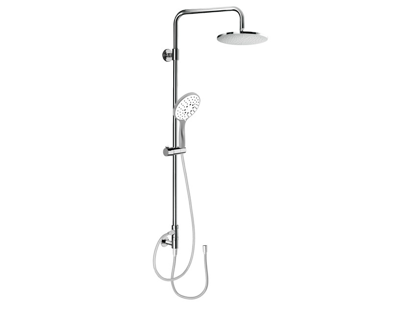 Wall-mounted shower panel with overhead shower EASY SHOWERS - 1456106 by Fir Italia