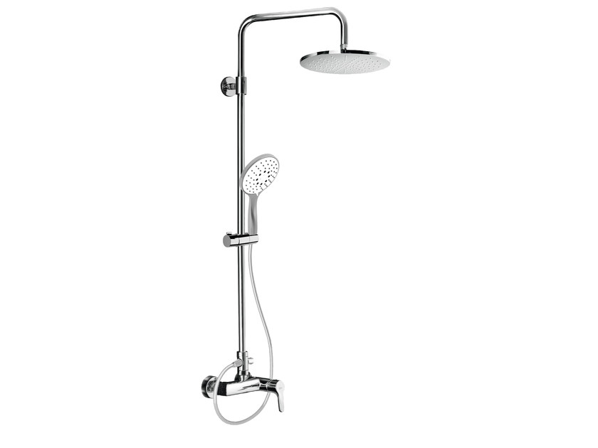 Wall-mounted shower panel with overhead shower EASY SHOWERS - 4362106 by Fir Italia
