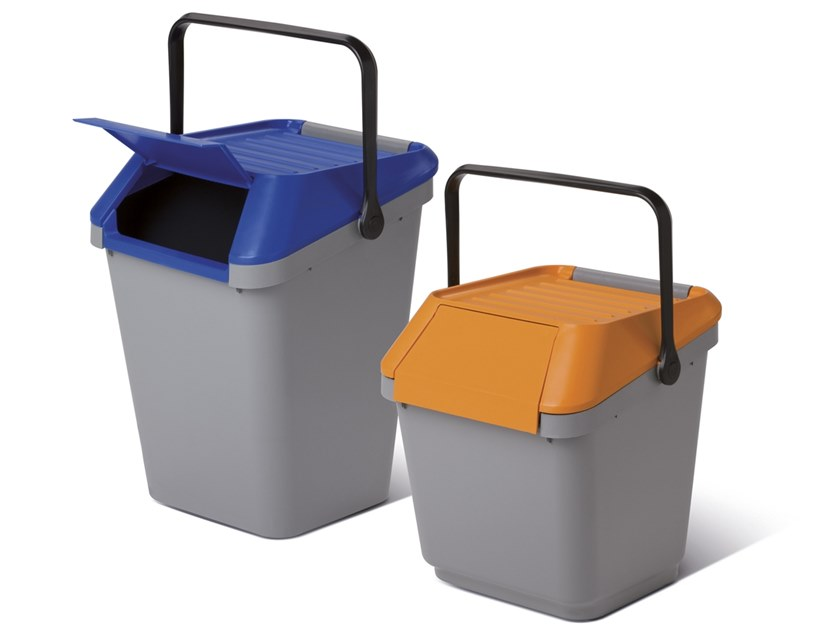 Litter bin with lid for waste sorting EASYMAX by MATTIUSSI ECOLOGIA
