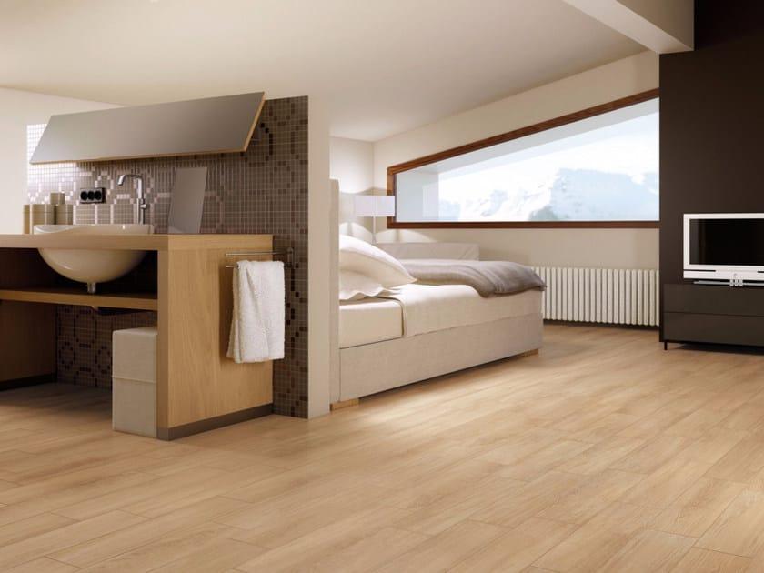 Full-body porcelain stoneware flooring with wood effect EASY WOOD | Flooring by Marca Corona