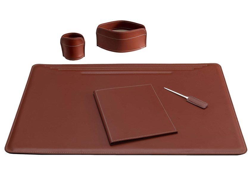 Bonded leather desk set EBE 5 PZ by LIMAC design FIRESTYLE