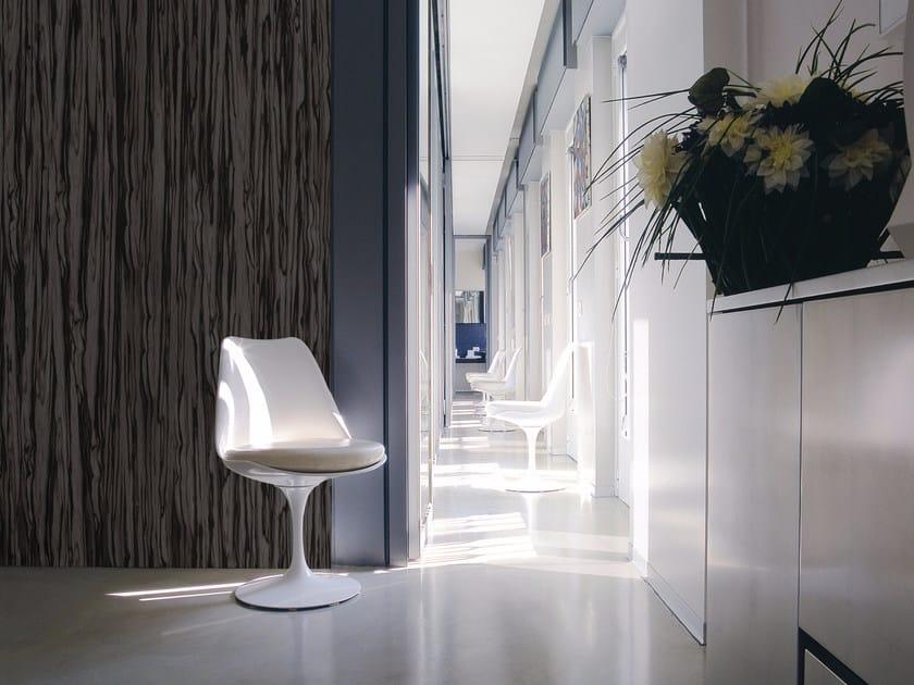 Wood effect panoramic wallpaper EBONY by Inkiostro Bianco