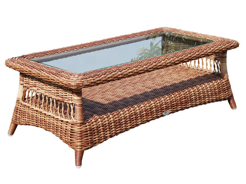 Tavolino basso da giardino rettangolare EBONY 22004 by SKYLINE design
