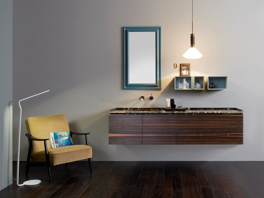 Wall-mounted vanity unit with drawers DONGIOVANNI | Ebony vanity unit by Capo d'Opera