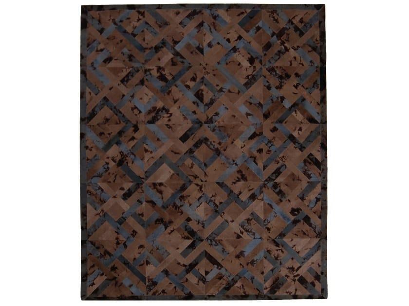 Handmade rectangular rug EBRU X OSIRIS CHESS by EBRU