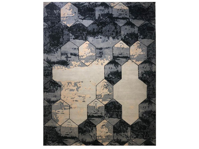 Handmade rectangular rug EBRU X OSIRIS GRANDE HEXAGON by EBRU