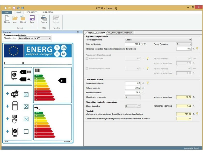 Plant maintenance and management EC759 Etichetta energetica by EDILCLIMA
