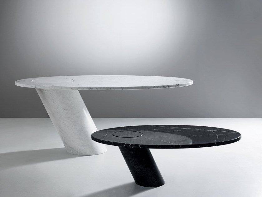Oval marble table ECCENTRICO | Table by Agapecasa