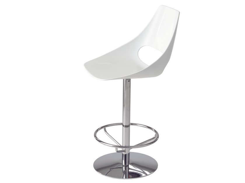 Technopolymer stool with back Echo 333B by Metalmobil