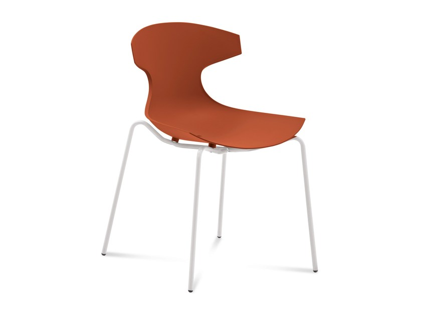 Ergonomic stackable polypropylene chair ECHO by DOMITALIA