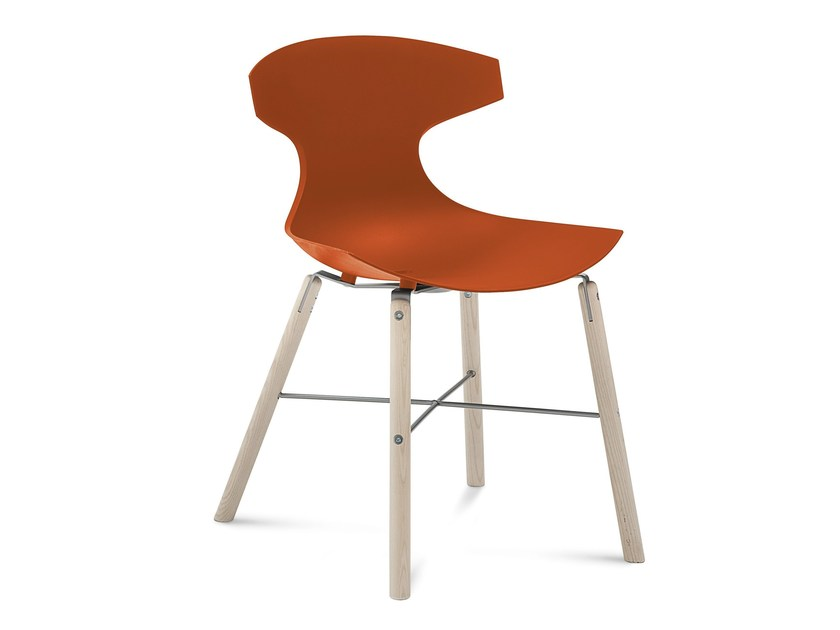 Ergonomic plastic chair ECHO-L by DOMITALIA