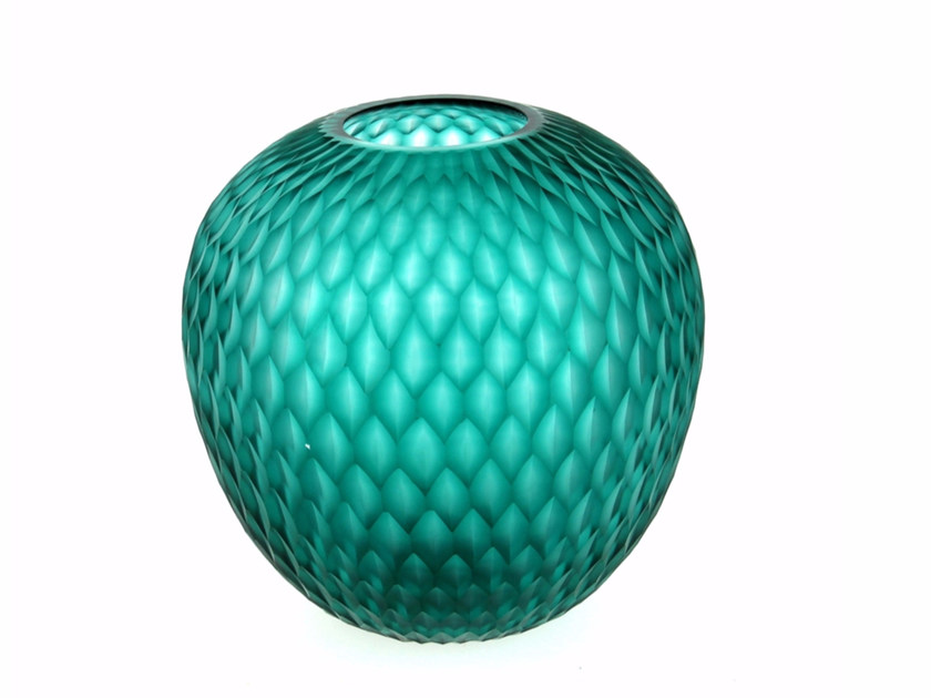 Glass vase ECLAT VASE BOULE by CFOC