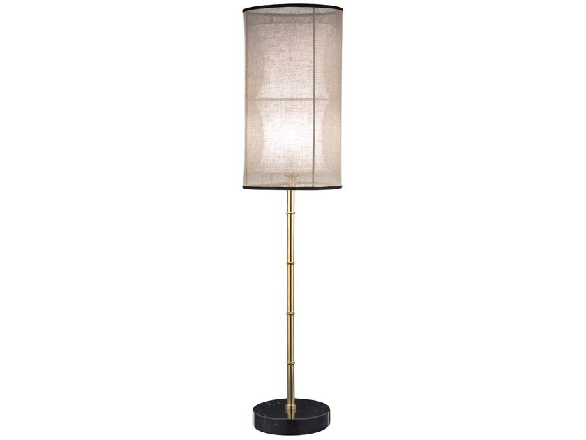 LED brass table lamp ECLECTIC BAMBOO 02 by Il Bronzetto