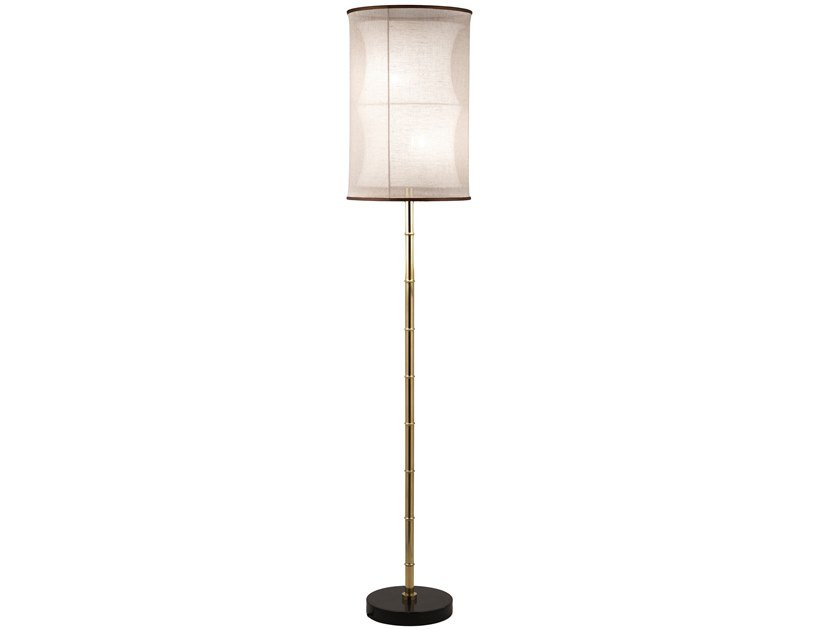 LED brass floor lamp ECLECTIC BAMBOO 01 by Il Bronzetto