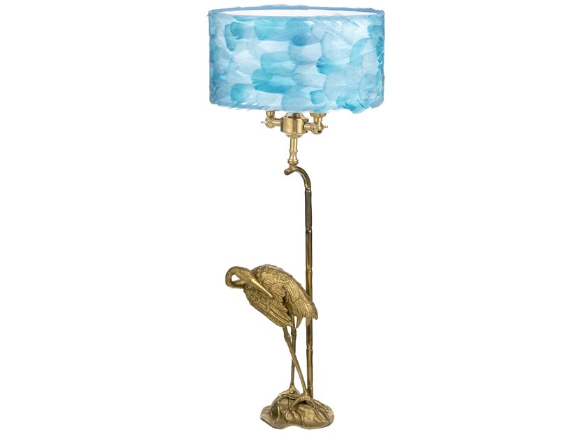 Brass table lamp ECLECTIC FAUNA 05A by Il Bronzetto