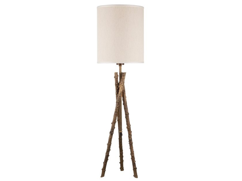 Brass table lamp ECLECTIC ROSA CANINA 03 by Il Bronzetto