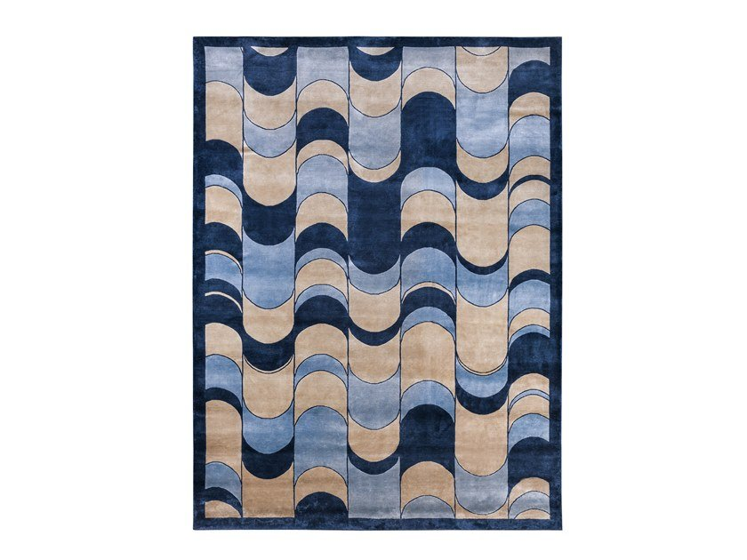 Patterned handmade rectangular rug ECLIPSE | Patterned rug by Turri