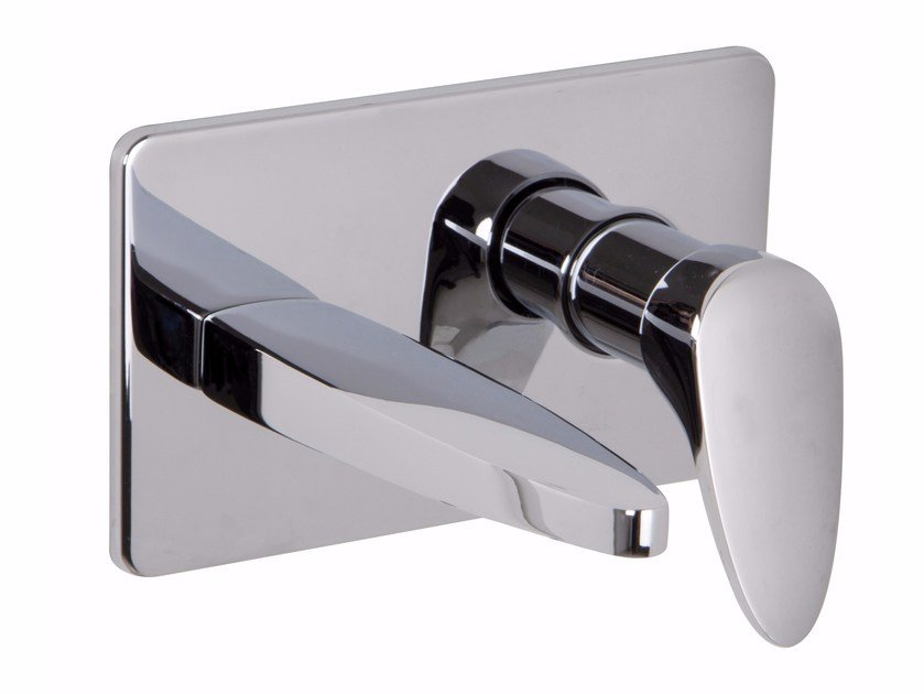 Wall-mounted chromed brass washbasin mixer ECLIPSE F3900X5 | Washbasin mixer by FIMA Carlo Frattini