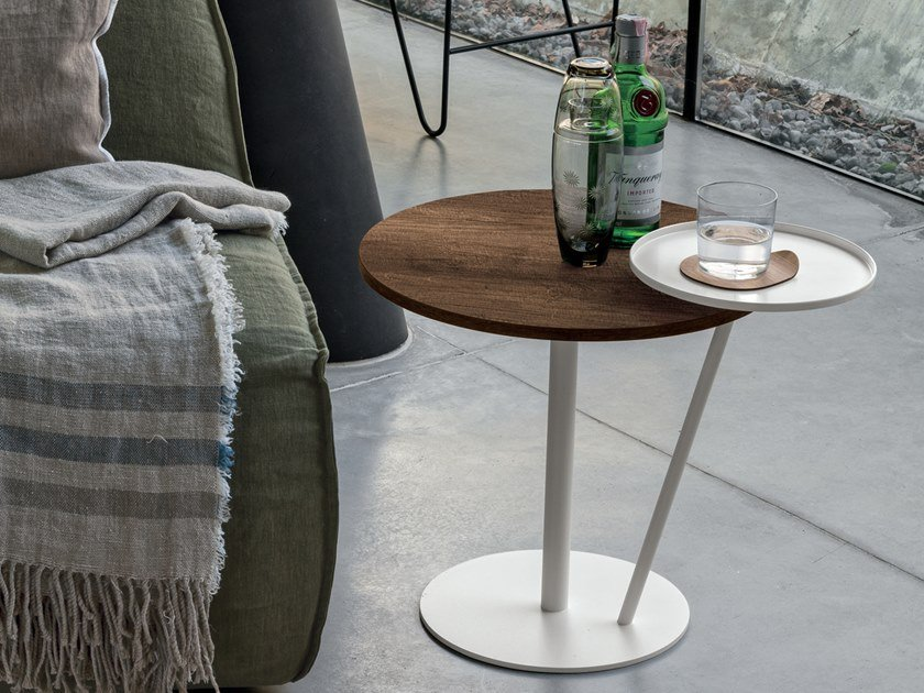 Round coffee table for living room ECLISSE by Gruppo Tomasella