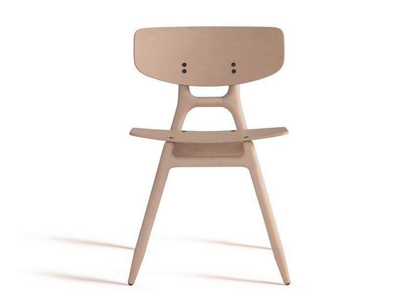 Stackable beech chair ECO 500M by Capdell