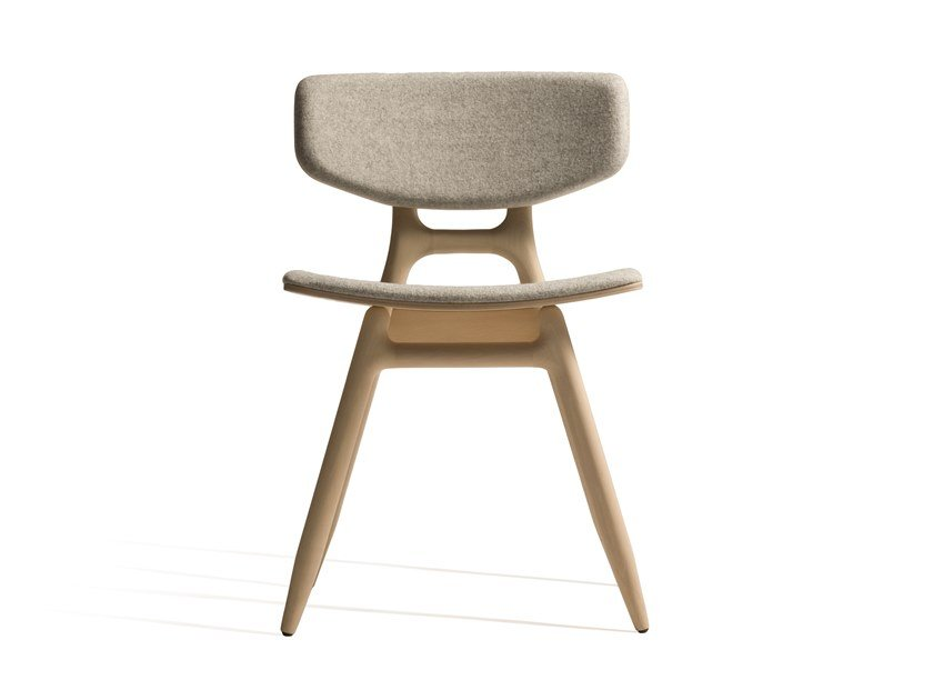 Upholstered stackable fabric chair ECO 500P by Capdell