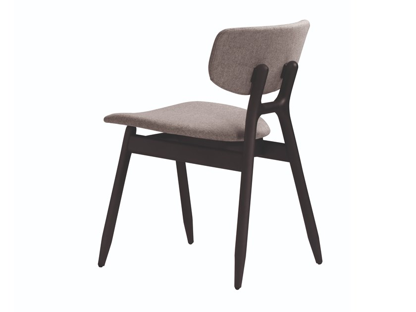 Upholstered stackable fabric chair ECO 500T by Capdell