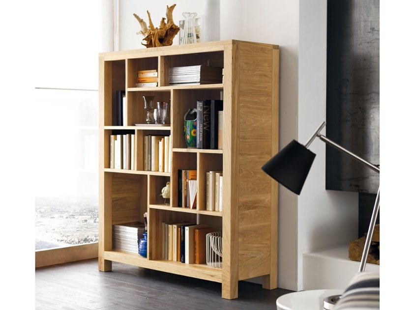 Wall-mounted freestanding solid wood bookcase ECO | Bookcase by AltaCorte