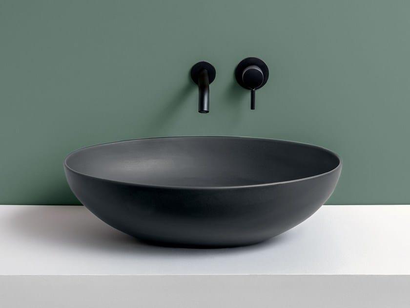 Countertop oval ceramic washbasin ECO by Ceramica Cielo