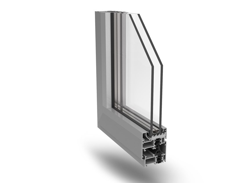 Aluminium casement window ECO-SLIM 50TT by Fresia Alluminio