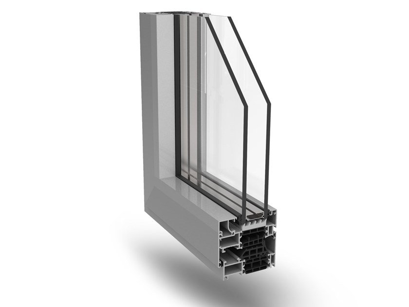 Aluminium casement window ECO-SLIM 72TT by Fresia Alluminio