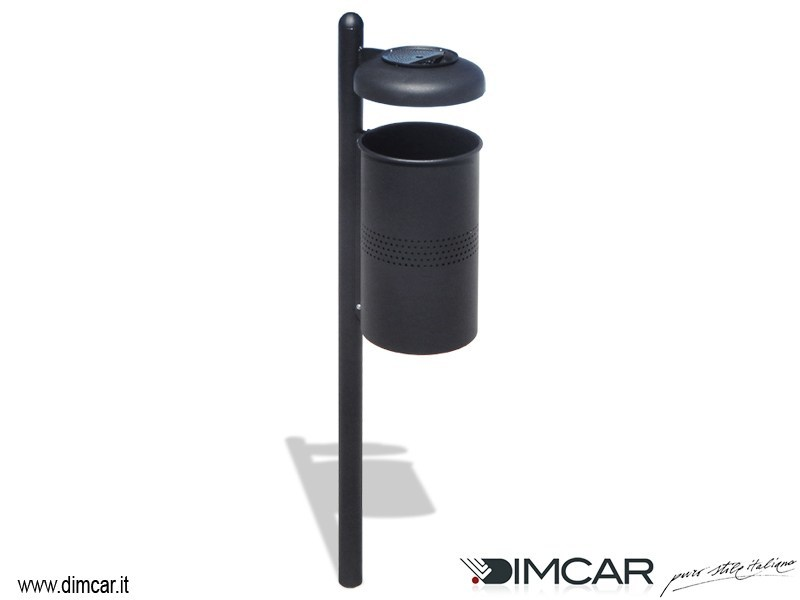Outdoor plastic waste bin with lid for waste sorting Cestino ecoBIO by DIMCAR