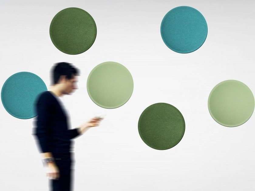 Colorful and lightweight panel ECOBUBBLE | Decorative acoustic panel by Slalom