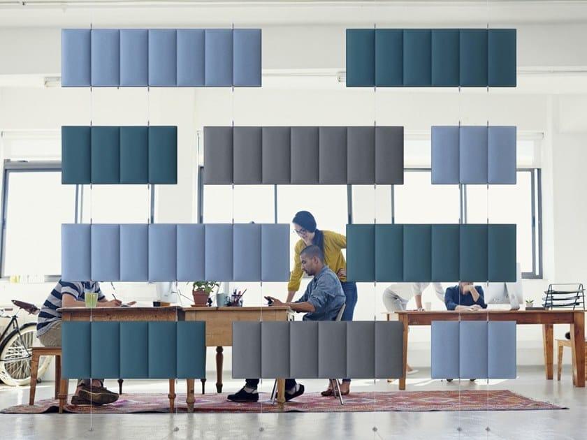 Polyester fibre acoustic baffles ECODESK BAFFLE COMPOSITION by Slalom