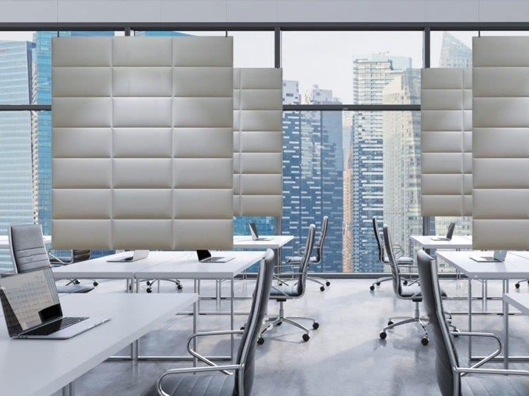 Polyester fibre acoustic baffles ECODESK BAFFLE XL by Slalom