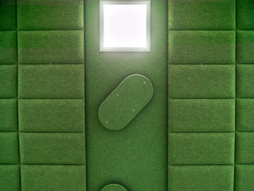 Polyester fibre Decorative acoustic panel ECODESK   Decorative acoustic panel by Slalom