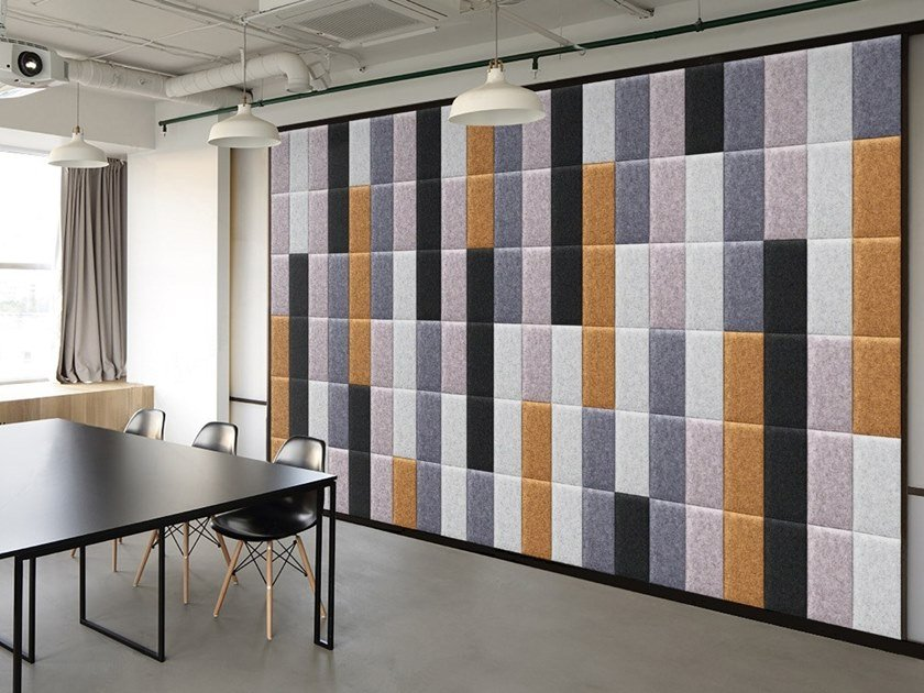 Polyester fibre Decorative acoustic panel ECODESK SURFACE by Slalom