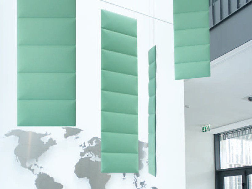 Polyester fibre acoustic baffles ECODESK VERTICAL BAFFLE by Slalom