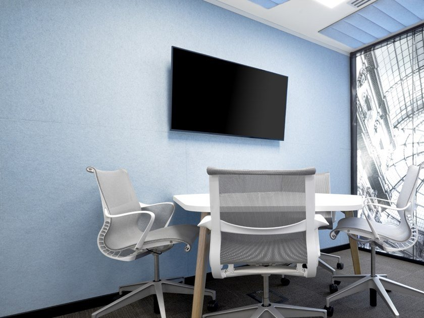 Acoustic ecological indoor wall tiles ECOFELT by Slalom