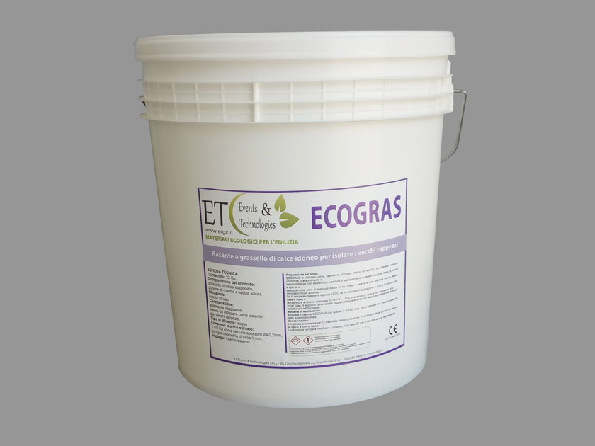Skim coat made up of lime putty ECOGRAS by ET Events & Technologies