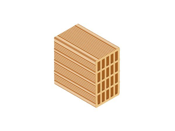 Clay block for internal partition ECOPOR® 311 15X25X25 by T2D