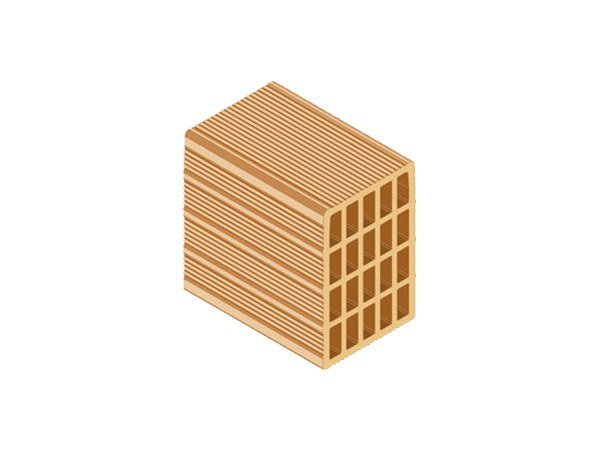 Clay block for internal partition ECOPOR® 311 17X25X25 by T2D