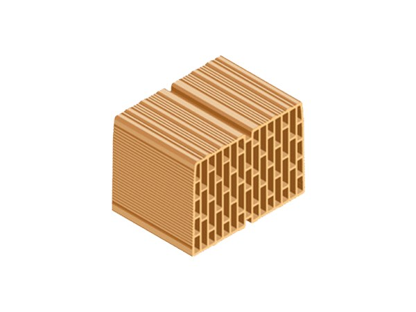 Clay block for internal partition ECOPOR® 311 35X25X25 by T2D