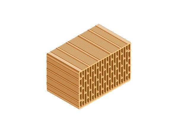 Clay block for internal partition ECOPOR® 311 40X25X25 by T2D