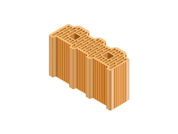 External masonry clay block ECOPOR® SSC   33X12,5X19 by T2D