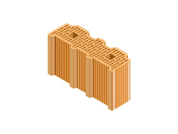External masonry clay block ECOPOR® SSC 35X12,5X19 by T2D