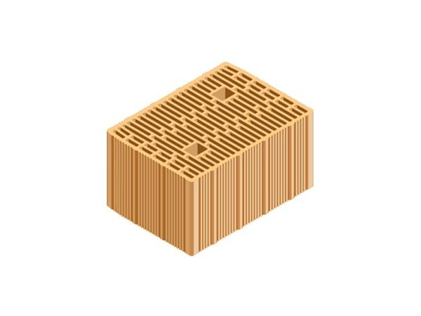 Loadbearing clay block ECOPOR® WALL 35X25X19 by T2D