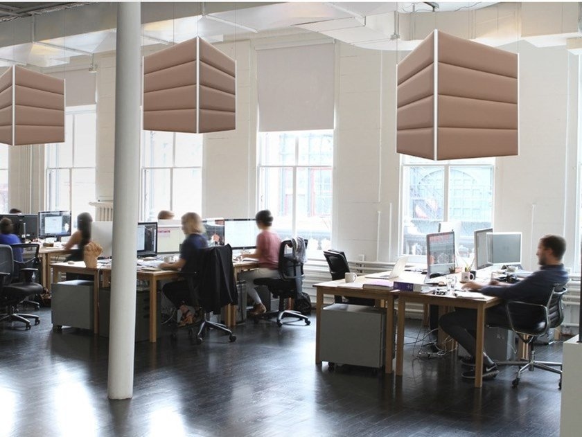 Polyester fibre acoustic baffles ECOSTRONG CUBE by Slalom