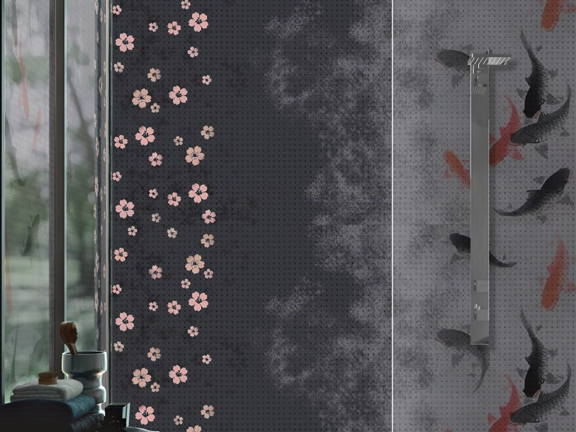 Vinyl wallpaper with floral pattern ECOSYSTEM by Baboon