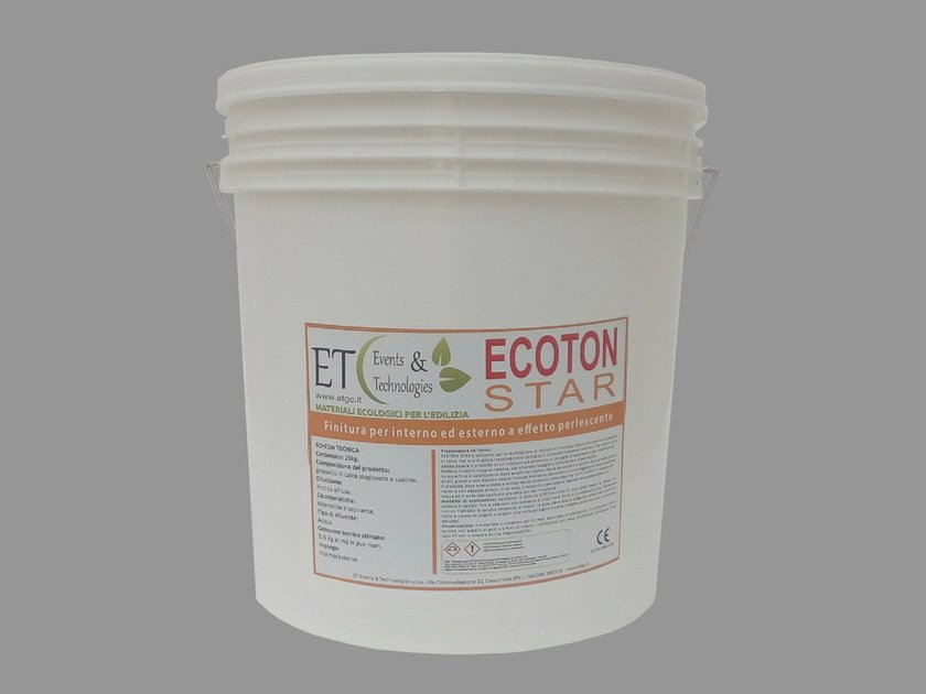 Finish made up lime putty and kaolin with pearl effect ECOTON STAR by ET Events & Technologies