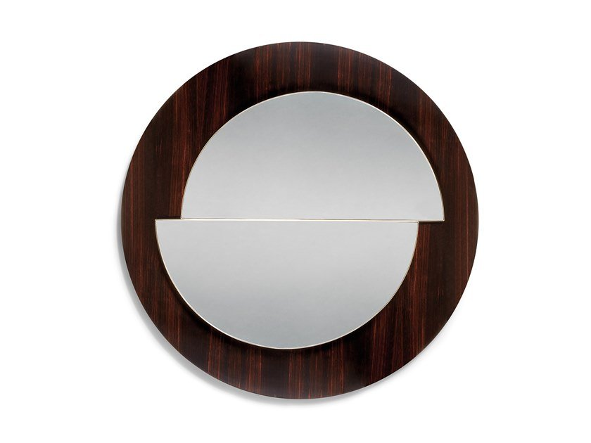 Round framed wall-mounted mirror ECUADOR by Ginger & Jagger